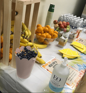 Common Market Staff Wellness Table