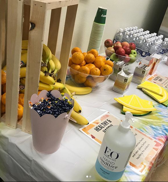 Common Market Staff Wellness Table
